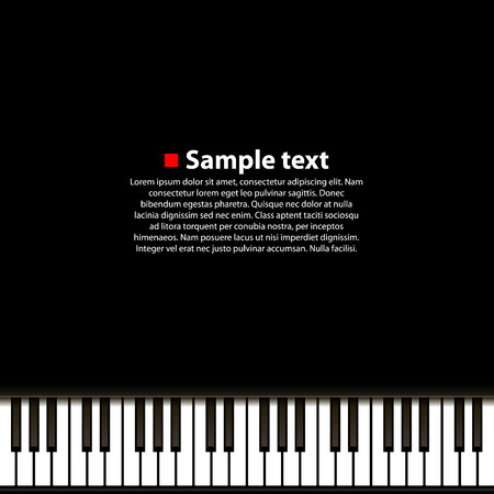 keyboard player: Piano background art music banner. Vector illustration Illustration