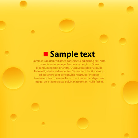Cheese yellow background. Clean fresh vector illustration. Vector