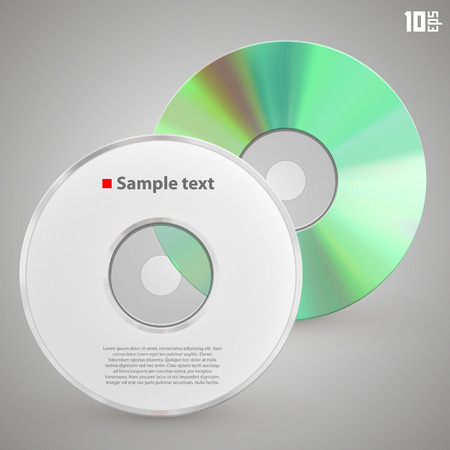recordable: Cd front and rear art object. Vector Illustration