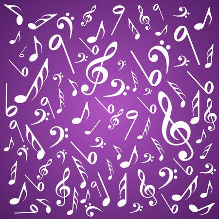 g clefs: Note sound background art creative. Vector illustration Illustration