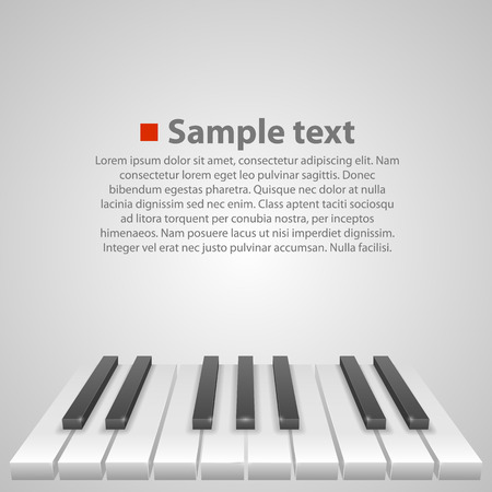 piano: Piano keys art creative cover. Vector illustration