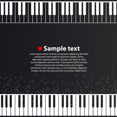 Piano background flat art creative. Vector illustration.