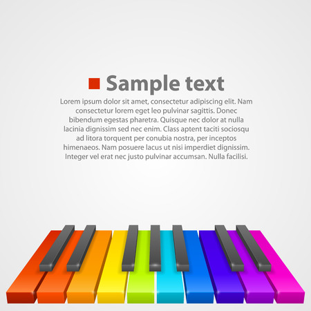 theater background: Piano keys art creative cover. Vector illustration