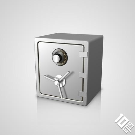 Gesloten veilige icoon kunstobject. Vector illustratie