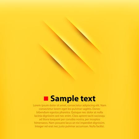 Rayures fond jaune. Propre et simple illustration vectorielle.