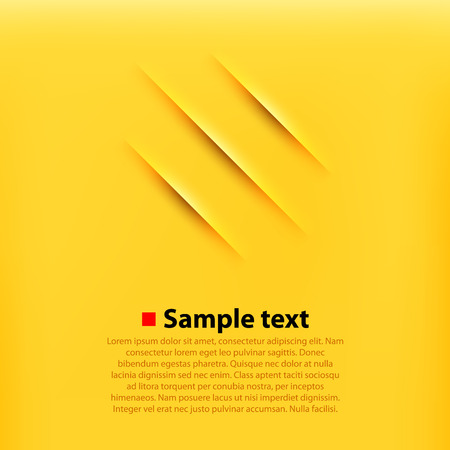 Scratches yellow background. Clean and simple vector illustration. Vector