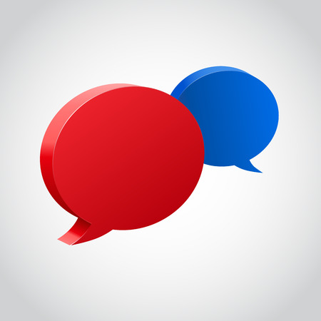 speech bubble: Chat bubbles with place for text. Vector illustration