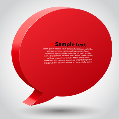 place for text: Chat bubble with place for text. Vector illustration