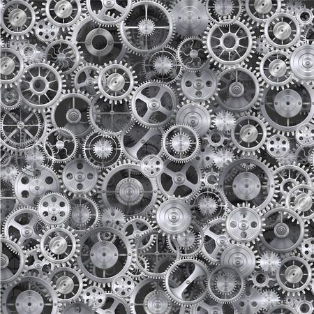 ingenieria industrial: Metal rueda dentada fondo realista. Limpiar la ilustraci�n vectorial