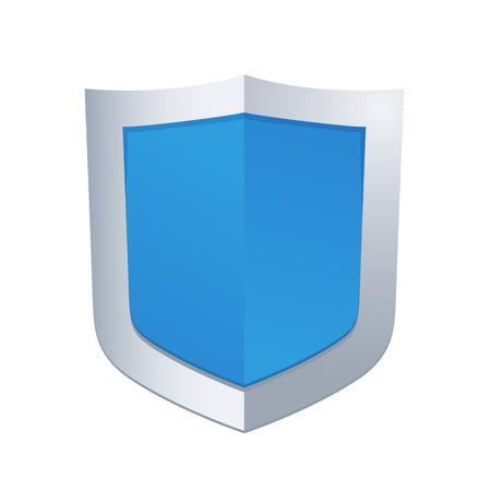 Schutzkonzept. Vektor-Illustration der blaue glänzende Schild Standard-Bild - 36043428