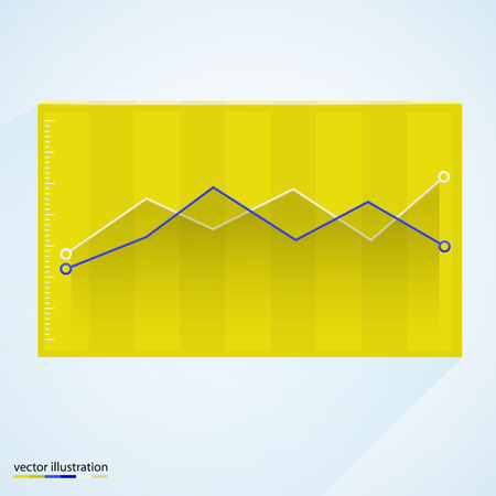 new account: Graph in box. Vector illustration. Modern design
