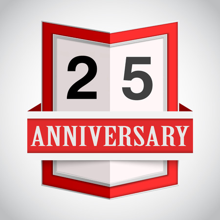 age 20 25 years: Anniversary modern colorful abstract background. Vector illustration