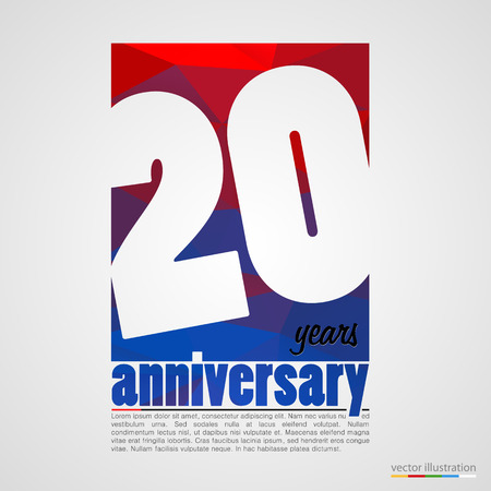 remembered: Anniversary modern colorful abstract background. Vector illustration