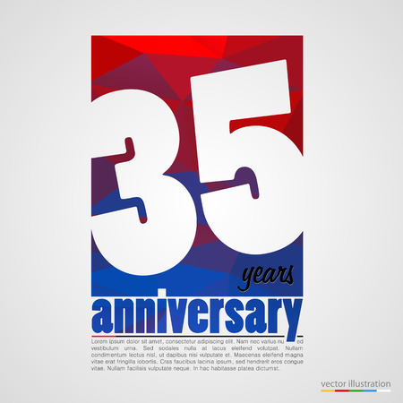 30: Anniversary modern colorful abstract background. Vector illustration