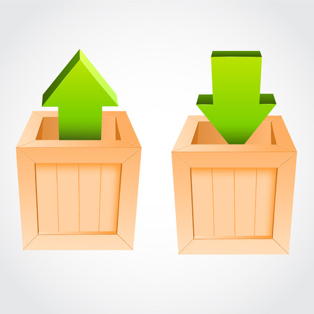 wooden box: Upload download vector wooden box. Vector illustration
