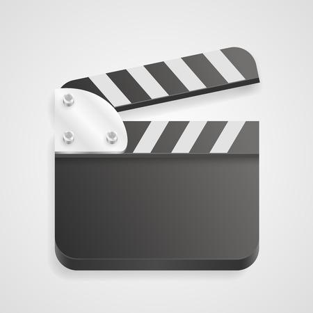 clapperboard: Clapperboard on a white background. Vector illustration Illustration