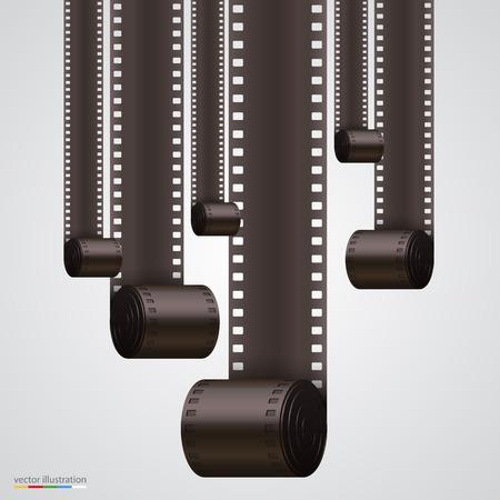 Film-Streifen-Hintergrund Kunst-Banner. Vektor-Illustration Standard-Bild - 36050181