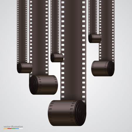 Film Strip background art banner. Vector illustration