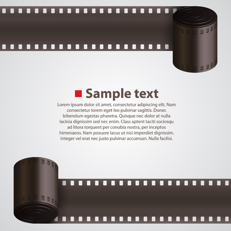 old movie: Film Strip background art banner. Vector illustration
