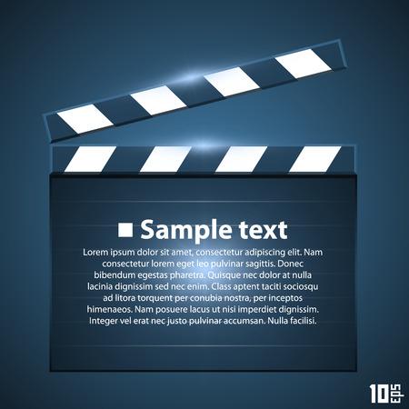producer: Movie board slapstick art ser. Vector illustration