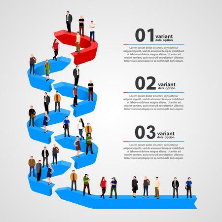 Geschäftsleute, die in Reih und Glied. Vektor-Illustration Standard-Bild - 36098932