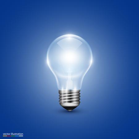 10eps: Vector light bulb on background. Illustration art 10eps