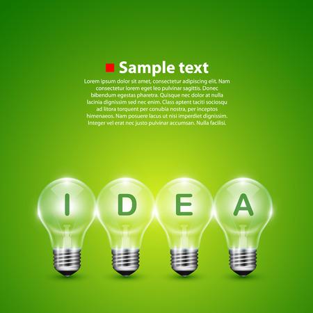 10eps: Vector idea light bulb on the background. Illustration art 10eps Illustration