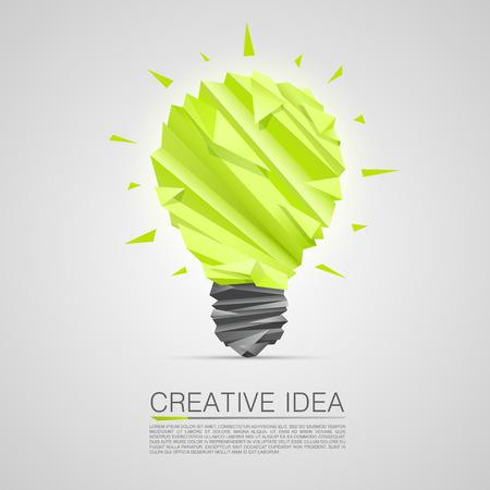 lamp vector: Creative idea of origami lamp. vector illustration