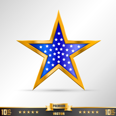 gold star: Gold Star label art creative. Vector illustration
