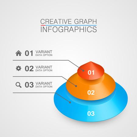 balanced scorecard: Pyramid icon for business concept background. Vector illustration