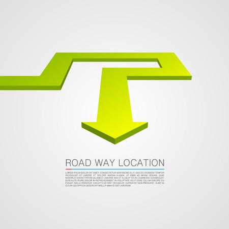 trajectoire: Direction de la trajectoire de d�placement. Illustration Vecteur