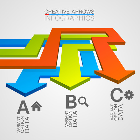 hause: Options direction of the arrows path. Vector Illustration