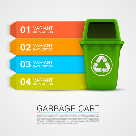 Graphic information Ecological trash art. Vector illustration Vector