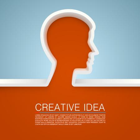 hand art: Creative idea hand art banner. vector illustration Illustration