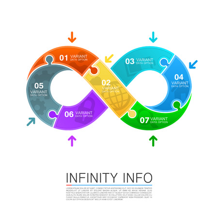 infinity icon: Infinity icons puzzle art creative. Vector illustration