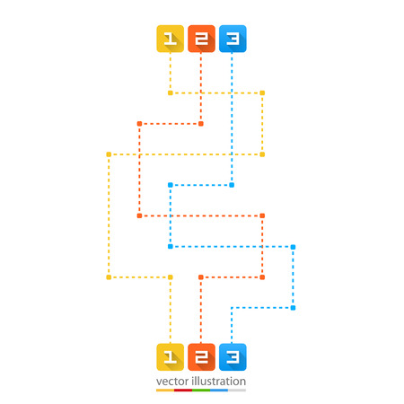 dotted lines: Road point information art line. Vector illustration