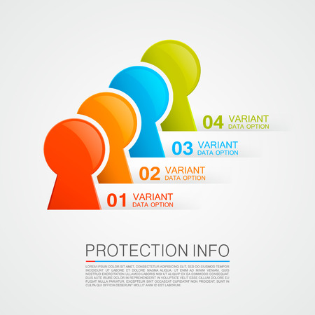 Protection info art protect icon. Vector illustration Illustration