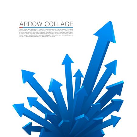 upwards: Arrow explosion blue art creative. Vector illustration Illustration