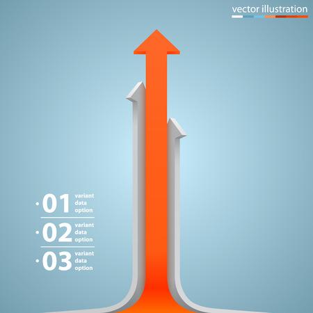 career plan: Arrows business growth art info. Vector illustration