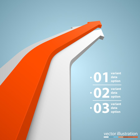 progress: Arrows business growth art info. Vector illustration