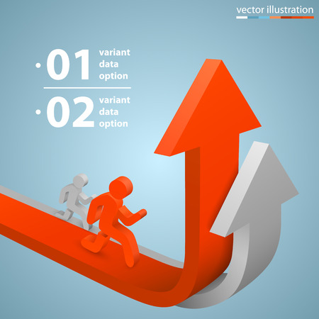 increase sales: Arrows business growth art info. Vector illustration