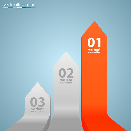 upwards: Arrows business growth art info. Vector illustration