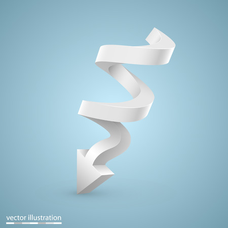 spiral vector: Spiral arrow sign art info. Vector illustration