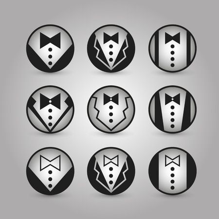 tux: Round icons jacket art.  Illustration
