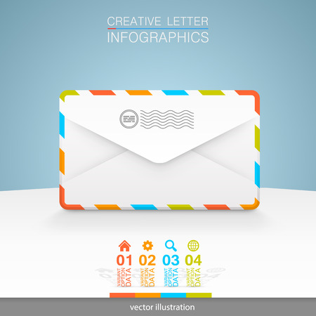 addressee: Letters on a white background.
