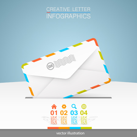 mail box: Letter on a white background.