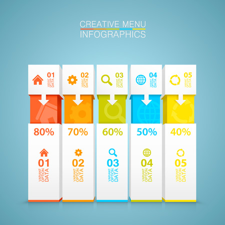 beat brochure: List of options art creative data.  Illustration