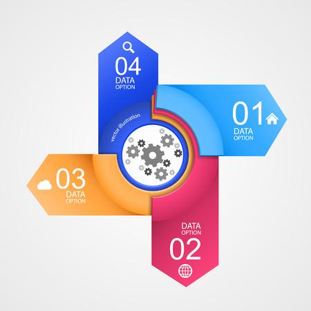 secondary colors: Mechanism directions info art arrow.