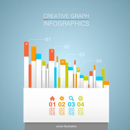 economic growth: Creative dates art graphic info.