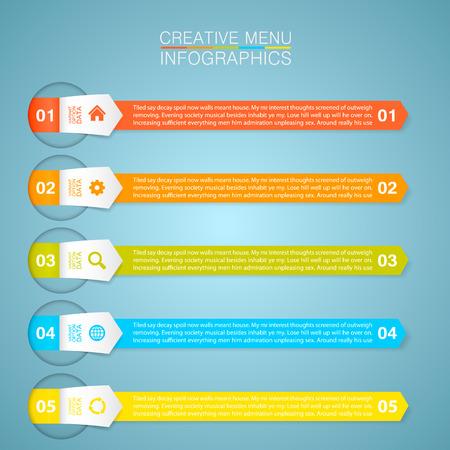 tab: Optional menu information art tab.